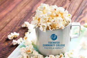 Mug full of popcorn