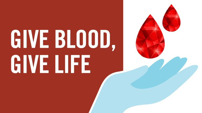 Give blood, give life.