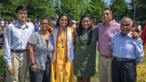 Indu Sharma and her Family